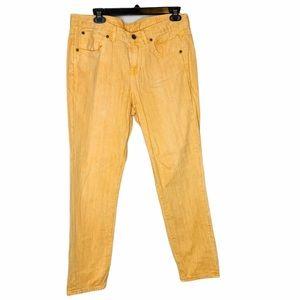 Madewell Boyfriend Jeans Orange Pockets Zip 29